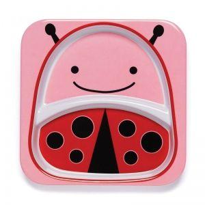 Skip Hop Детска двойна чинийка Zoo - Калинка